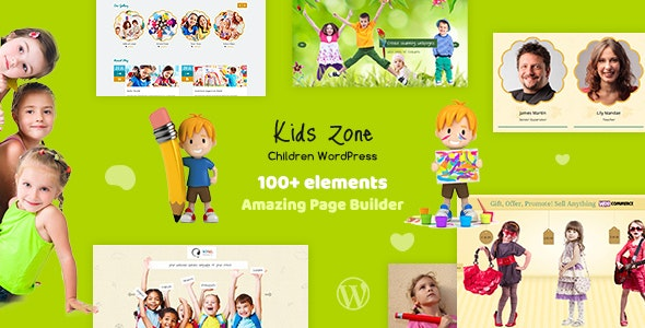 Kids Zone 5.2 - Children WordPress Theme