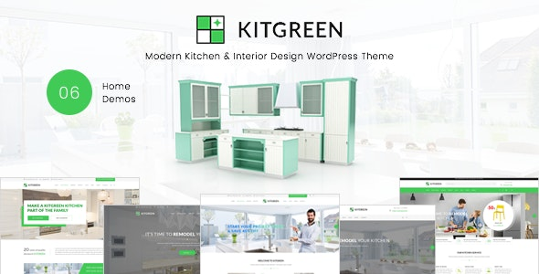 KitGreen 1.5.4 - Interior and Kitchen Design WordPress Theme