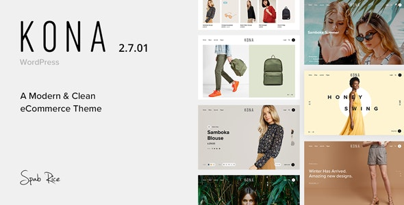 Kona 2.8.1 - Modern & Clean eCommerce WordPress Theme