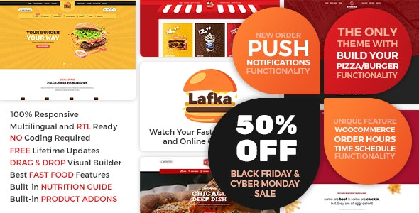 Lafka 1.4.3 - WooCommerce Theme for Burger & Pizza Delivery
