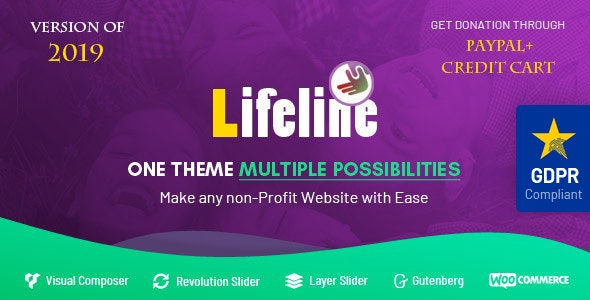 Lifeline 6.0 - NGO, Fund Raising and Charity WordPress Theme