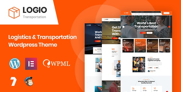 Logio 1.0 - Logistics & Transportation WordPress Theme