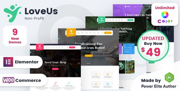 Loveus 1.6 (Nulled) - NonProfit Charity WordPress Theme