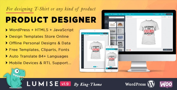 Lumise 1.9.5 - Product Designer for WooCommerce WordPress