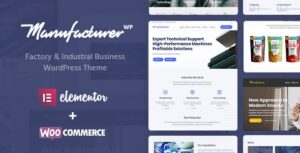 Manufacturer 1.2.1 Nulled - Factory and Industrial WordPress Theme