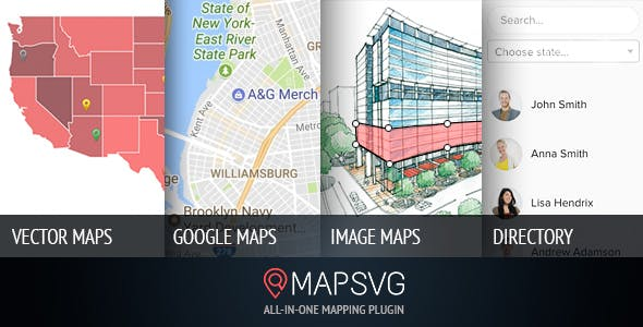 MapSVG 5.15.3 - The Last WordPress Map Plugin