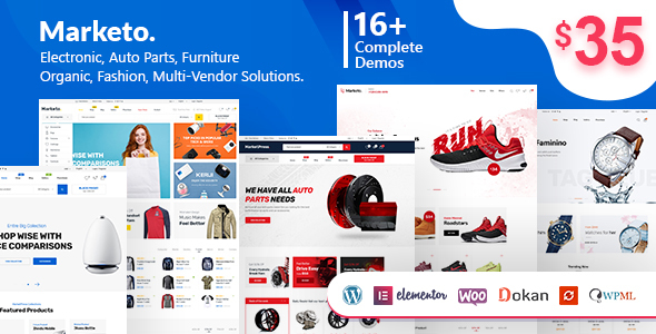 Marketo 1.9.4 - ECommerce & Multivendor WordPress Theme