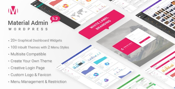 Material 5.2 - White Label WordPress Admin Theme