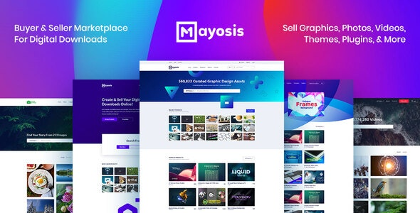 Mayosis 2.8.2 - Digital Marketplace WordPress Theme