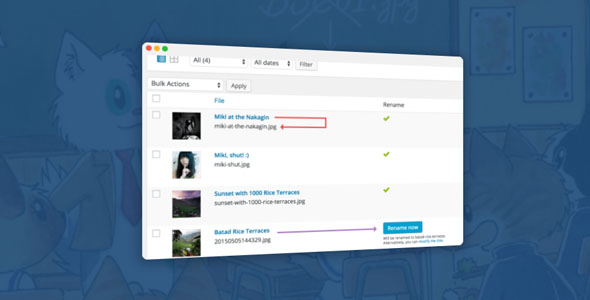 Media File Renamer Pro 5.0.2 Nulled - WordPress Plugin
