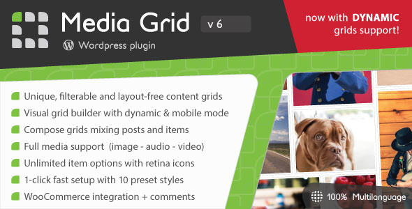 Media Grid 6.492 - WordPress Responsive Portfolio