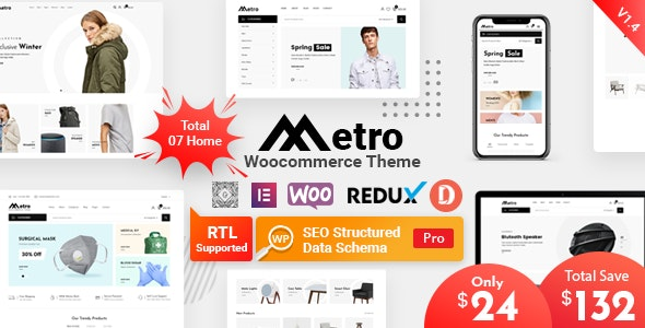Metro 1.4.6.1 - Minimal WooCommerce WordPress Theme