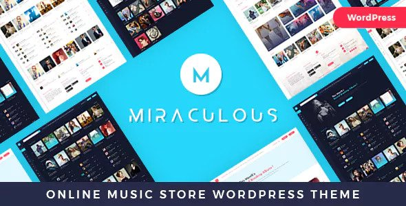 Miraculous 1.0.8 - Online Music Store WordPress Theme