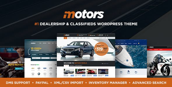 Motors 4.8.0 Nulled (+ Mobile App) - Classifieds WordPress Theme