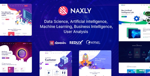 Naxly 1.1 - Data Science & Analytics WordPress Theme