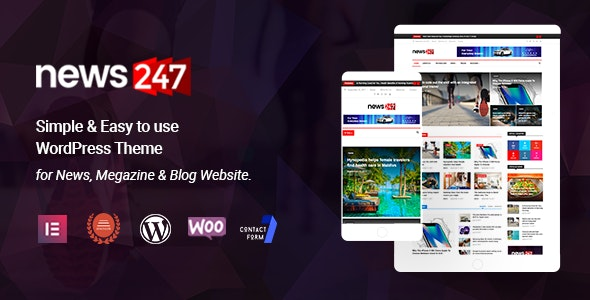 News247 v2.2 - News Magazine WordPress Theme