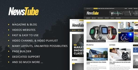 NewsTube 1.5.3.0 - Magazine Blog & Video WordPress Theme