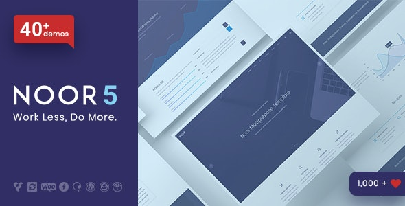 Noor 5.5.22 Nulled - Minimal Multi-Purpose WordPress Theme