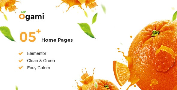 Ogami 1.25 - Organic Store WordPress Theme