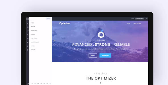 Optimizer Pro 0.7.5 - Flexible WordPress Theme