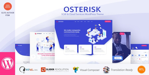 Osterisk 2.0 - VOIP & Cloud Services WordPress Theme