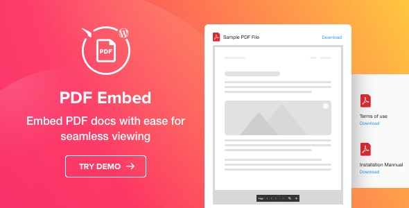 PDF Embed v1.1.0 - WordPress PDF Viewer plugin