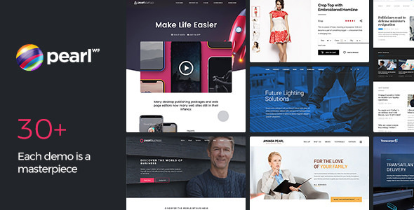 Pearl 3.2.3 Nulled - Corporate Business WordPress Theme