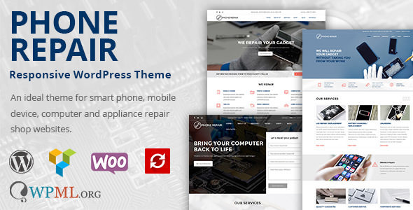 Phone Repair 1.10.4 - Mobile, Cell Phone and Computer Repair WordPress Theme
