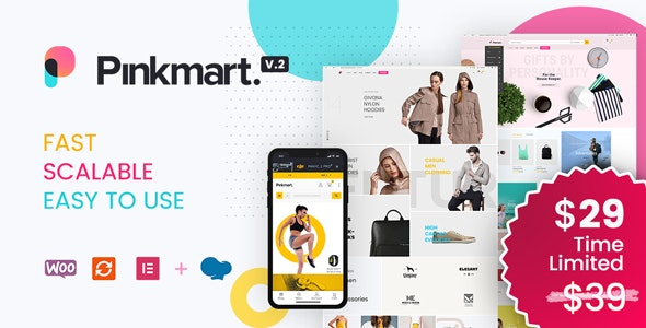 Pinkmart 2.7.5 Nulled - AJAX theme for WooCommerce