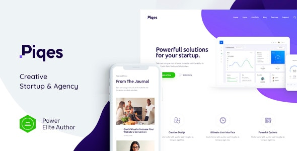 Piqes 1.0.1 (Nulled) - Creative Startup & Agency WordPress Theme