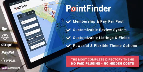 Point Finder Directory 1.9.7 - Directory & Listing WordPress Theme