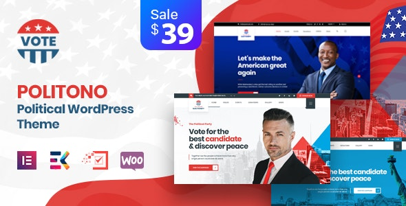 Politono 1.5 - Political Election Campaign WordPress Theme