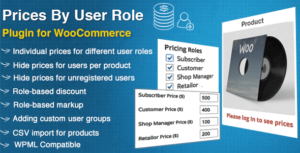 Prices By User Role for WooCommerce 5.0.2