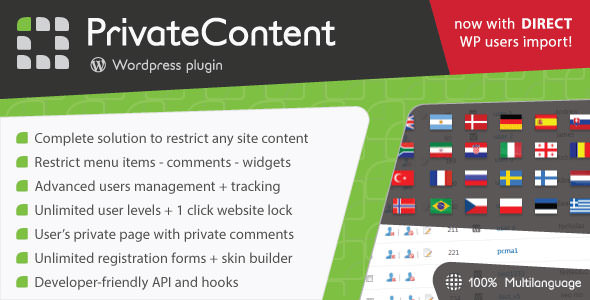 PrivateContent 7.321 - Multilevel Content WordPress Plugin