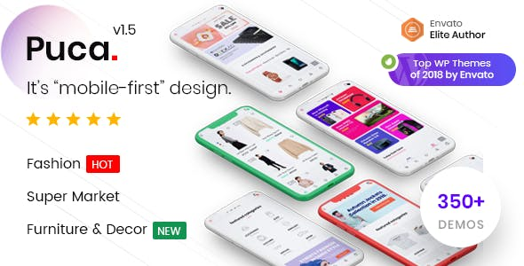 Puca 1.5.3 - Optimized Mobile WooCommerce Theme