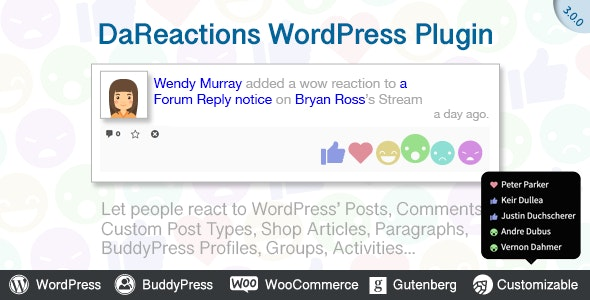 Reactions WordPress Plugin 3.9.2