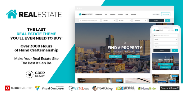 Real Estate 7 v2.9.2 - Real Estate WordPress Theme