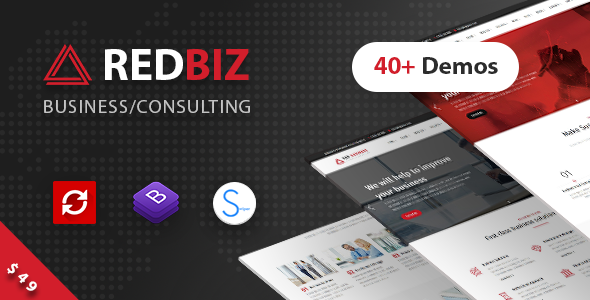RedBiz 1.2.1 - Finance & Consulting Multi-Purpose WordPress Theme
