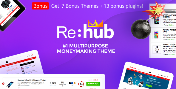 Rehub 12.9 Nulled - Affiliate Marketing, Multi Vendor Store, Community Theme