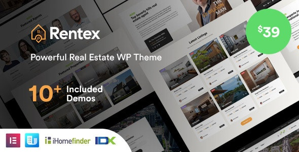 Rentex 1.5.8 - Real Estate WordPress Theme