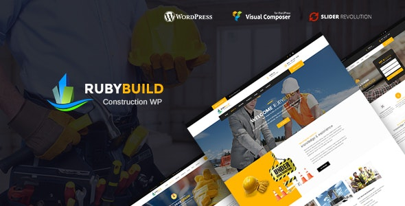 RubyBuild 1.7 - Building & Construction WordPress Theme