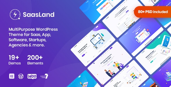 SaasLand 3.2.4 Nulled - MultiPurpose WordPress Theme