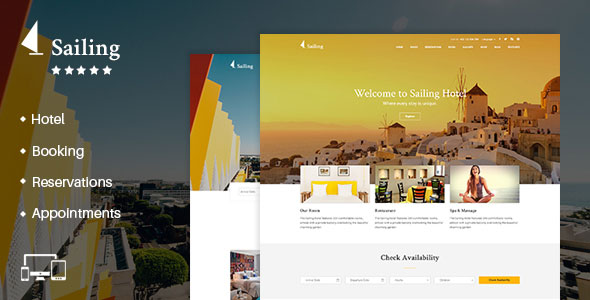 Sailing 4.1.4 Nulled - Hotel WordPress Theme