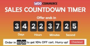 Sales Countdown Timer for WooCommerce and WordPress 1.0.1.1 - Checkout Countdown
