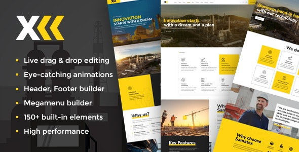 Samatex 2.3 - Industrial Woocommerce WordPress Theme