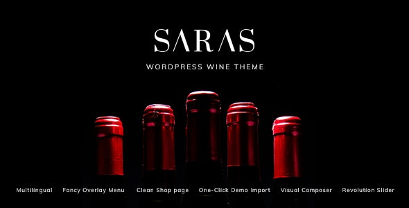 Saras 1.5 - Wine WordPress Theme