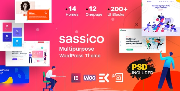 Sassico 2.2 - Multipurpose Saas Startup Agency WordPress Theme
