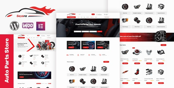 Sayara 1.0.9 - Auto Parts Store WooCommerce WordPress Theme