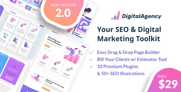 SEOWP 2.0.2 - SEO & Digital Marketing WordPress Theme