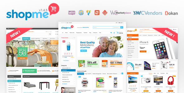 ShopMe 1.5.5 Nulled - Multi Vendor Woocommerce WordPress Theme